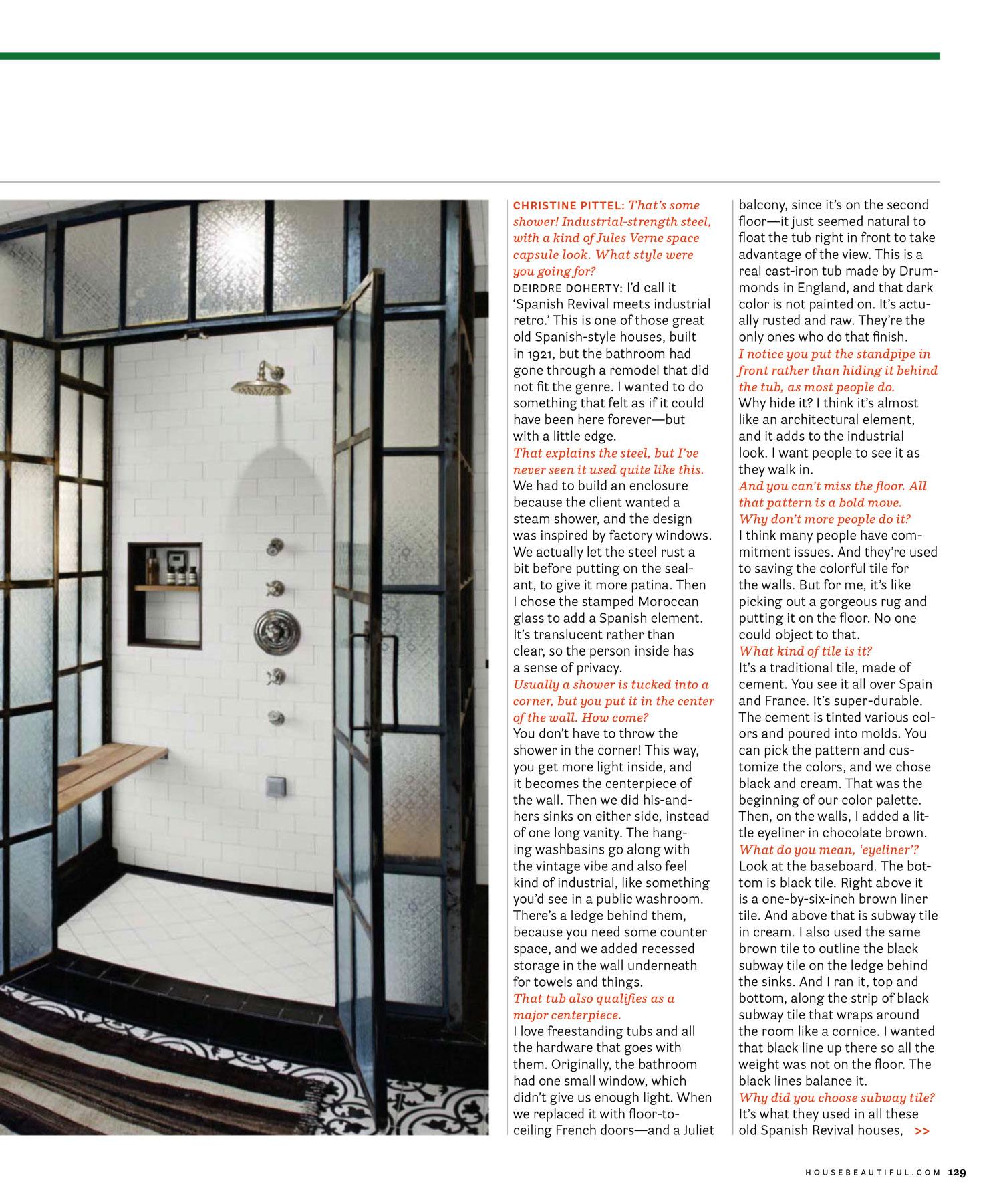 Published Los Angeles Interior Design Walk In Shower Rain Shower Head Shower Tile Shower Seat Glass Shower
