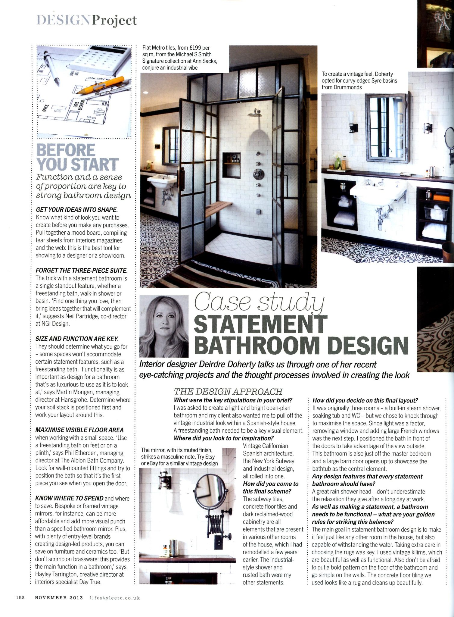 Deirdre Doherty Interior Designer Los Angeles Published Black and White Bathroom Bathroom Design Interior Design